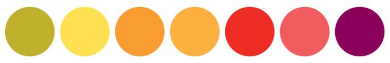 colori caldi per sito