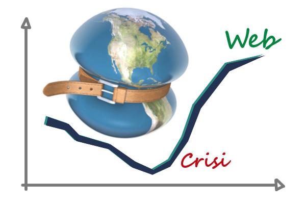 crisi in italia e il web