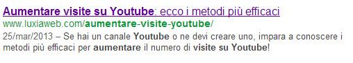 aumentare visite visto da google