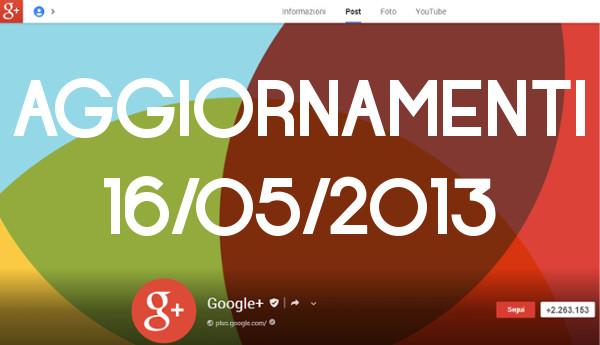 aggiornamento google +
